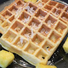 Hawaiian Waffles with Pineapple and Coconut