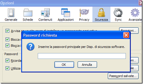 Firefox Password richiesta per vedere le Password salvate