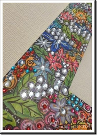 Handpainted jewelled mirror 4