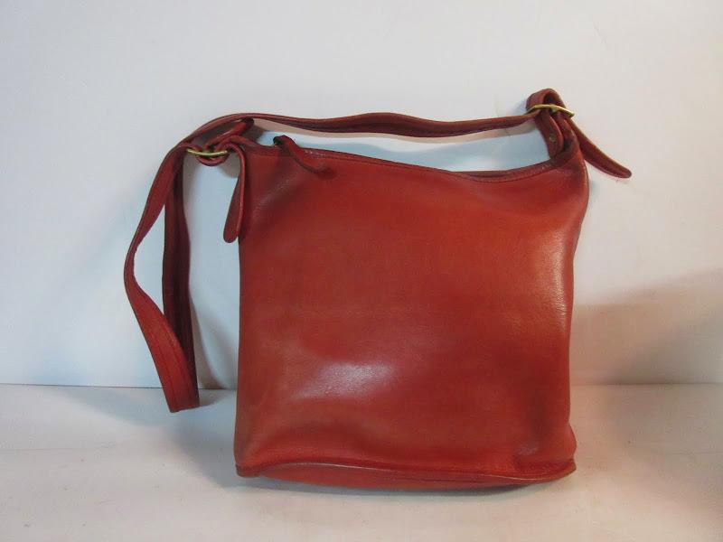 Coach Red Bucket Bag