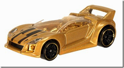 Golden Car Hot Wheels 2