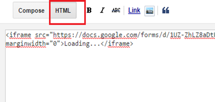 Page Creation paste HTML