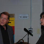 Backstage: Peter Stirba and Amy Grant