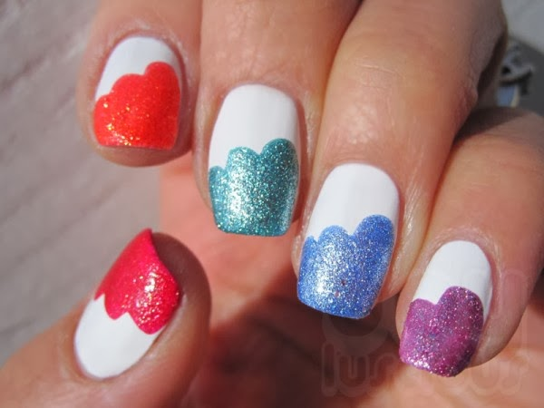 Easy nail polish designs at home nail designs hair styles tattoos and fashion heartbeats Cool nail design ideas at home
