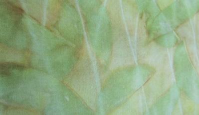 ECO PRINT Birnenblätter auf Seide Detail
