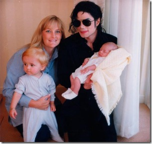 Michael, Debbie Rowe, Prince, and baby Paris years ago