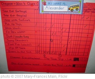 'Summer Chore chart' photo (c) 2007, Mary-Frances Main - license: http://creativecommons.org/licenses/by/2.0/