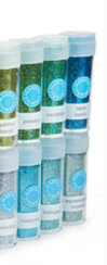 Have I mentioned how much I love Martha Stewart glitter from Michael's? These emeralds and turquoises are lush. (http://www.michaels.com)