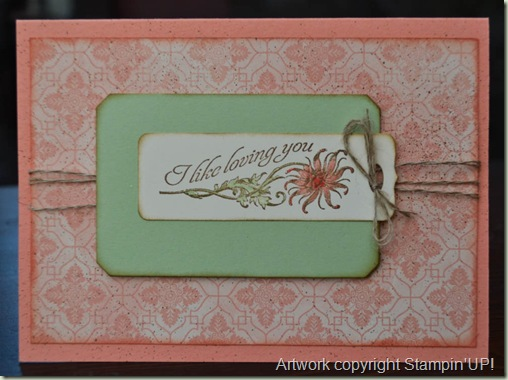 Stampin'Up! Venetian Romance Card
