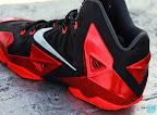 nike lebron 11 gr black red 8 03 New Photos // Nike LeBron XI Miami Heat (616175 001)