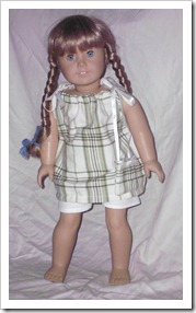 Cute green plaid outfit for an American Girl doll.