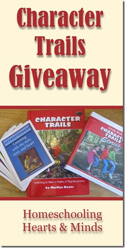 Character Trails #Giveaway at Homeschooling Hearts & Minds