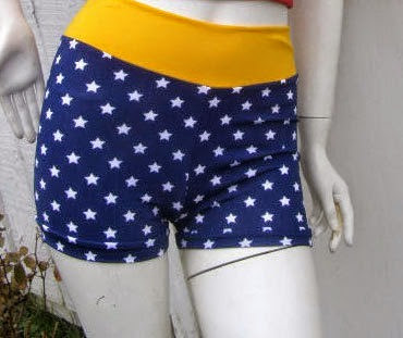 Wonder Woman Swim Bottoms from The Geek Garden