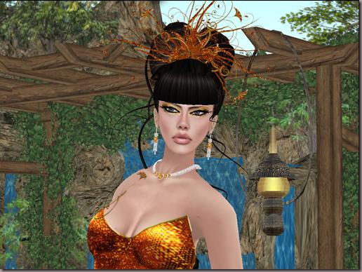 G&T Creations Sparkel gown orange gold_001