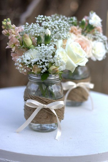 Twine Wrapped Mason Jars