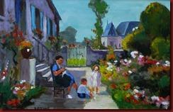 Verano en el jardin (56x36,5)