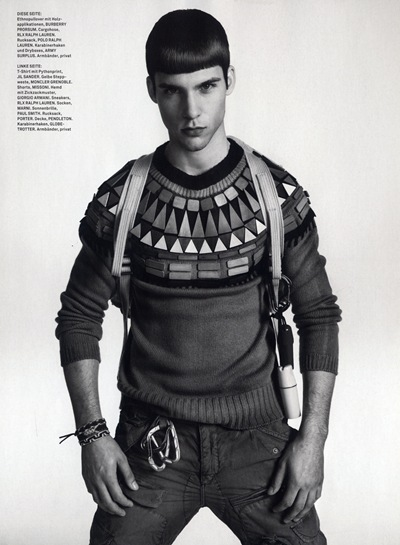 Chris Petersen @ DNA/Nous by Matthias Vriens-McGrath for GQ Style Germany S/S 2012. Styled by Tobias Frericks.