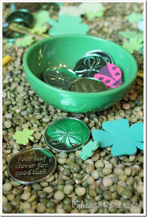 St. Patrick's Day Sensory Play