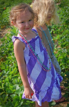 Rylee strawberry picking