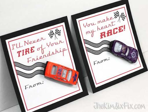 Schön Race Car Valentine