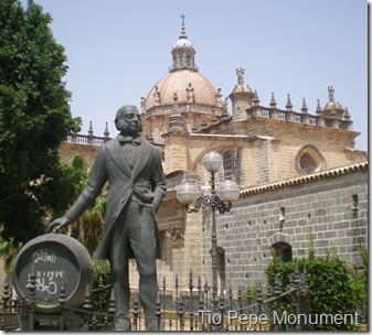 Tio Pepe monument in Jerez