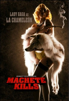 Lady GaGa em cartaz de Machete Kills