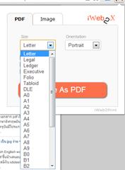 เปลี่ยนหน้าเวบไซต์ให้เป็น pdf หรือ รุปภาพ