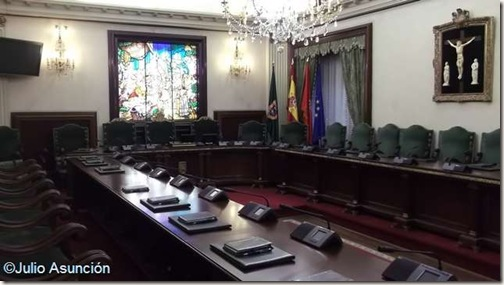 Salón de Plenos del Ayuntamiento de Pamplona