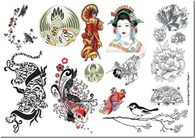 asian inspired tattoo sheet 1