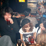 drinking games at star fire in Ginza, Tokyo, Japan