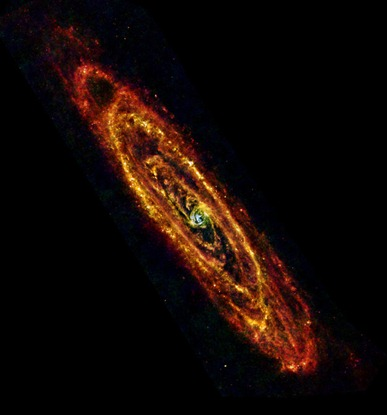 a fria galáxia de Andrômeda