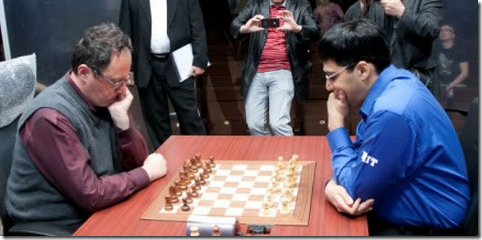 Gelfand vs Anand, Photo by Chessbase.com