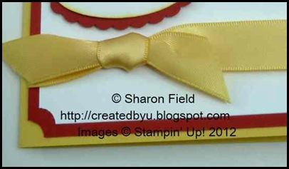Retired daffodil delight ribbon in simple knotted bow