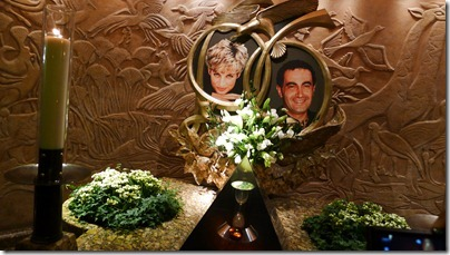 the Diana and Dodi Memorial @ Harrods
