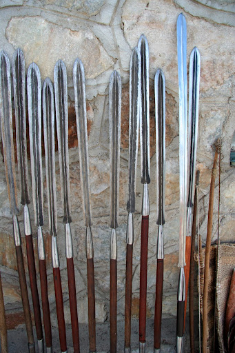 Some masai spears for sale.