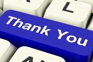 thanking social media fans