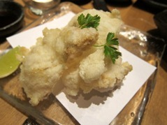 Hirame Chips: deep fried thinly cut turbot