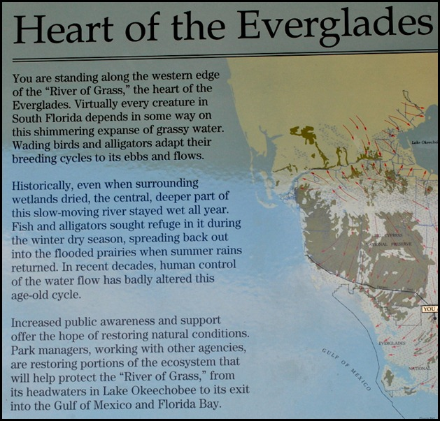 14j1 - At the tower - Sign Heart of the Everglades