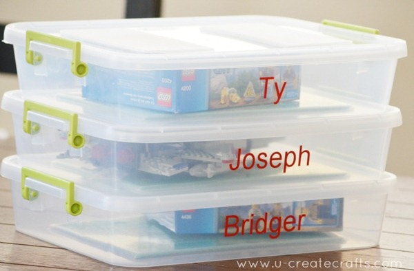 DIY To Go Lego Box and Storage