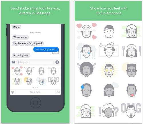 LINEスタンプのように自分の顔を作成できるiPhoneアプリ