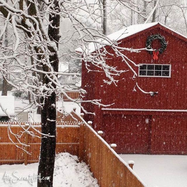 SnowOnBarn