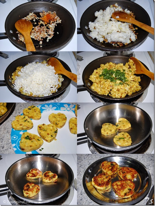 Paneer aloo cutlet process