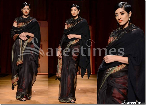 Tarun_Tahiliani_Black_Saree