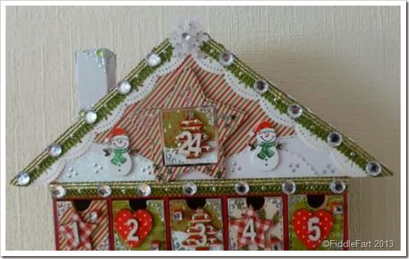 Altered Advent House. craft Advent House. Advent House