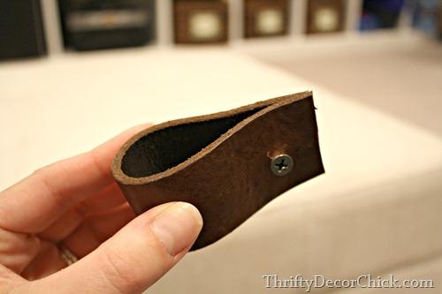 old belt as handles