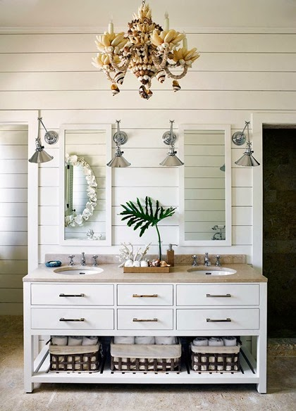 wood plank wall bathroom