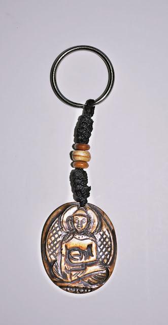 Buddha design Bone Keyring