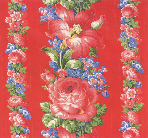 Here is a post-revolutionary machine printed cloth in a popular pattern from the mid-twentieth Century.