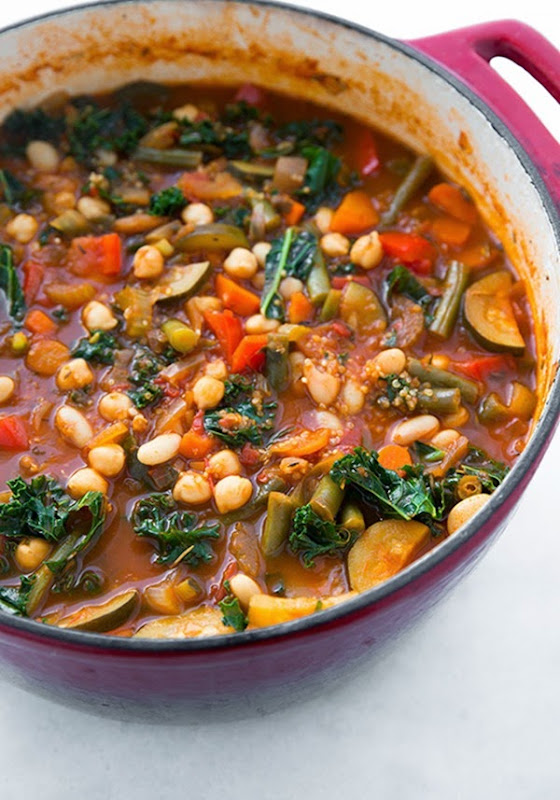 Cooking Classy - Kale and Quinoa Minestrone