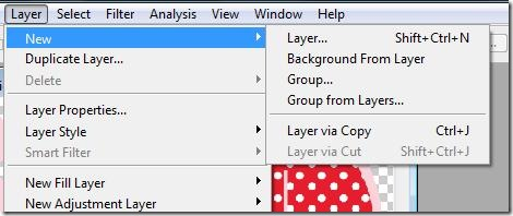 Create new layer 1